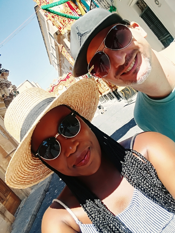 Charleen and Jeremy exploring local festivities in Malta