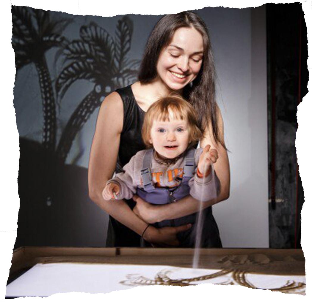 Julia Labutina with her daughter