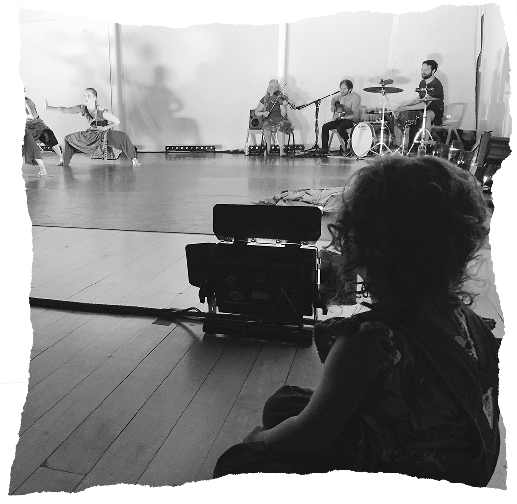 Image: Lizzy Humber's daughter watching a rehearsal