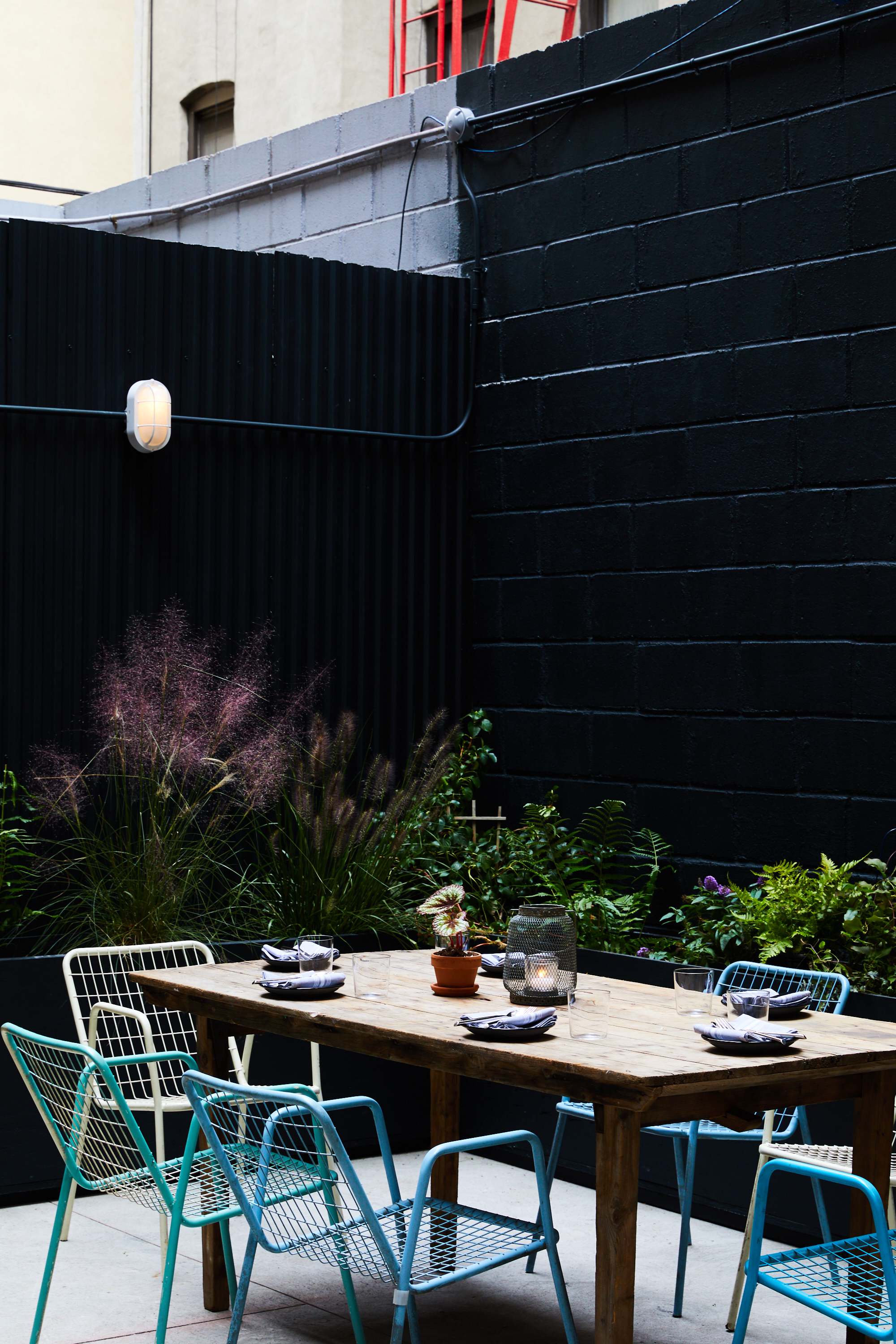 dine al fresco in our beautiful back patio