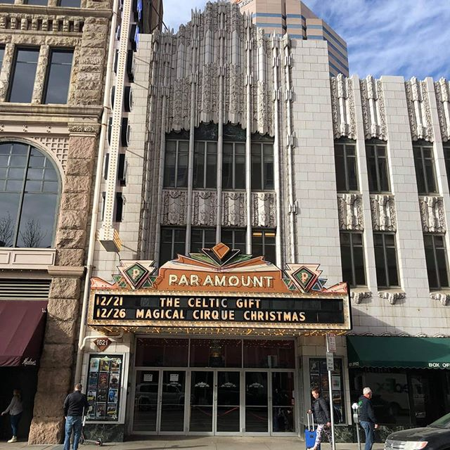 WE HAVE ARRIVED! @paramountdenver We cannot wait for this evening's performance! #thecelticgift #irishdancetheatre