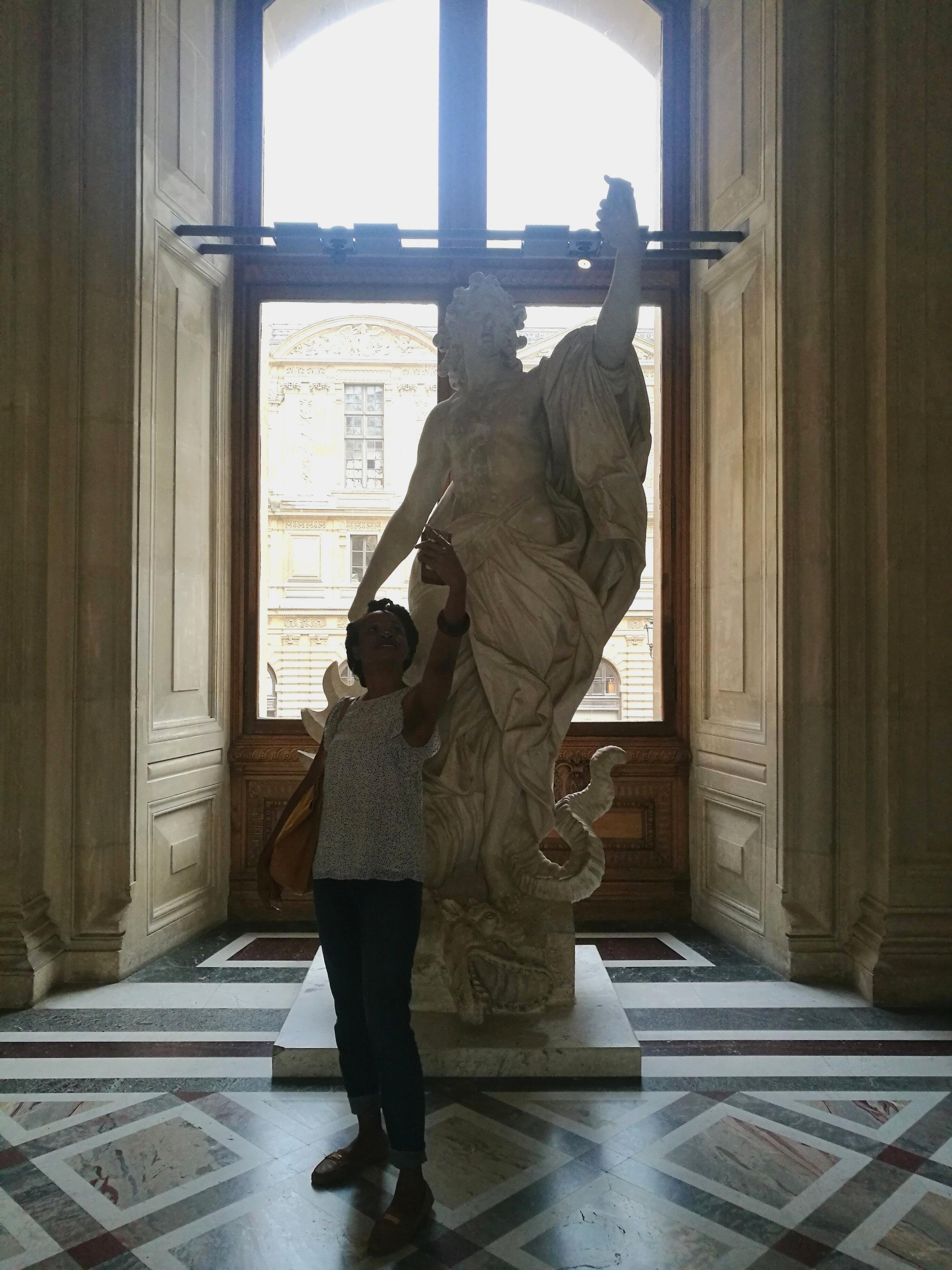 At the Louvre, Paris. Summer 2018.