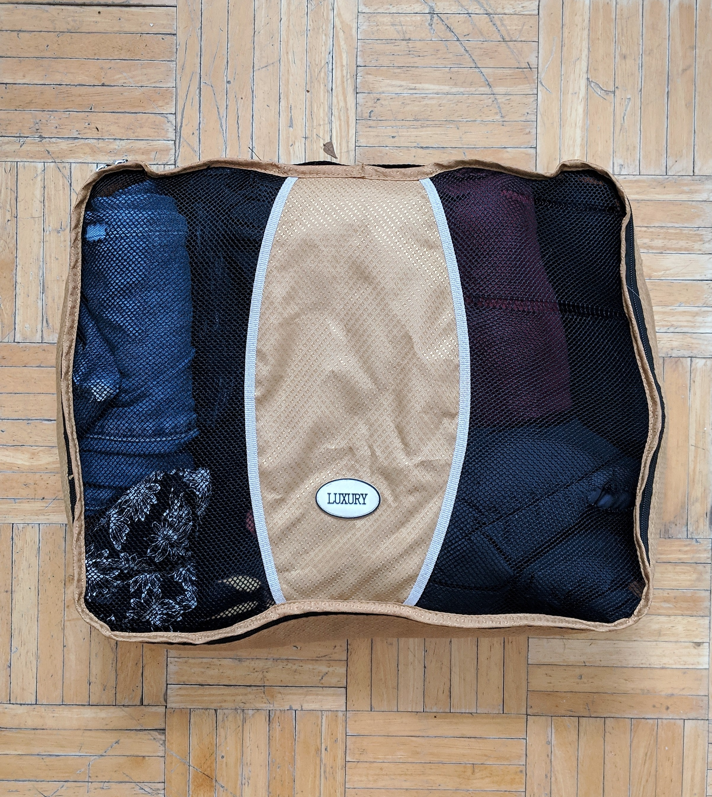 Great for organization. - Packing cubes keep your things organized within your pack, which is especially useful for longer trips. I have three packing cubes of different sizes. For this trip, I am only using the largest cube.