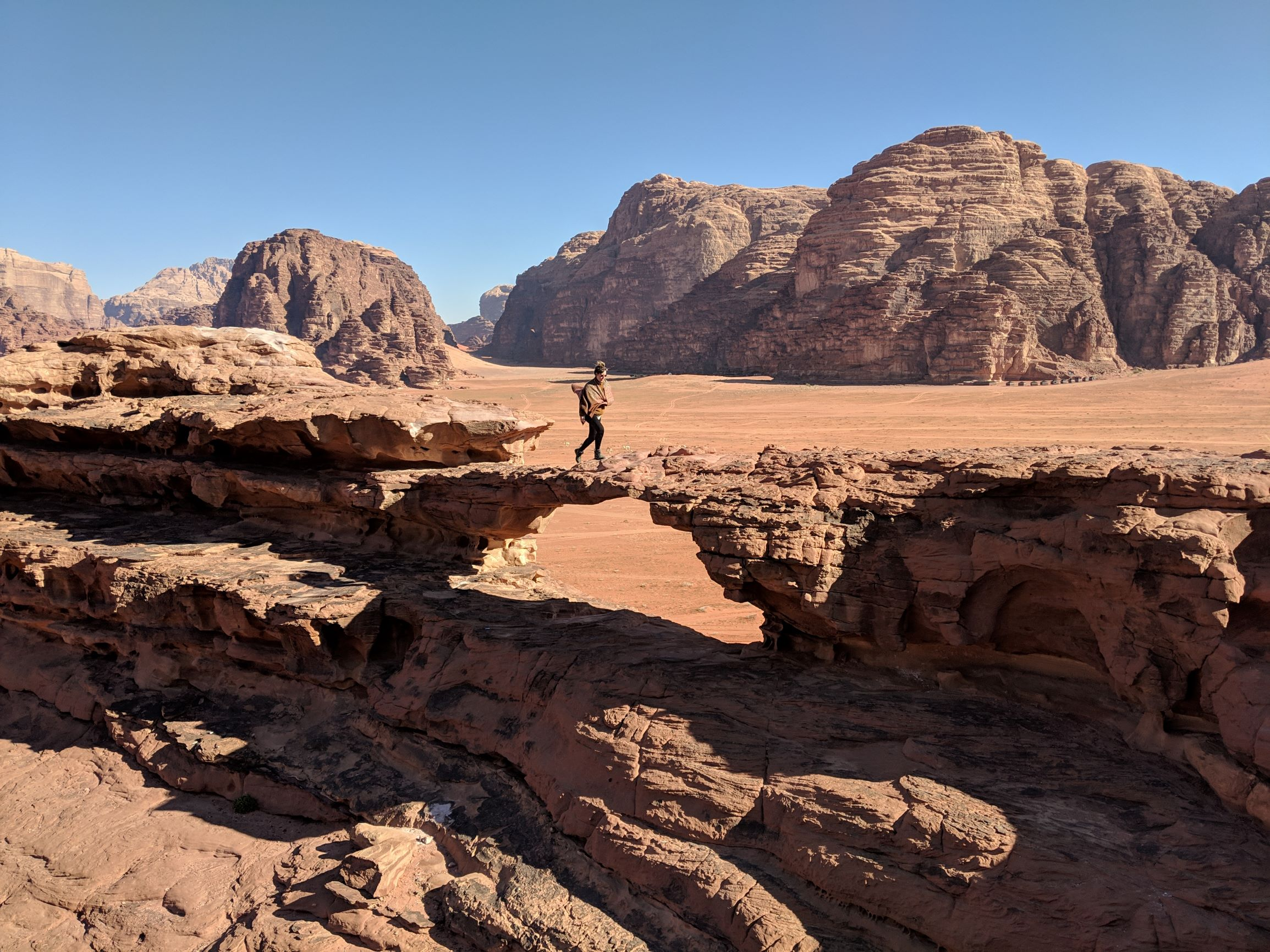 Exploring the Wadi Rum desert.