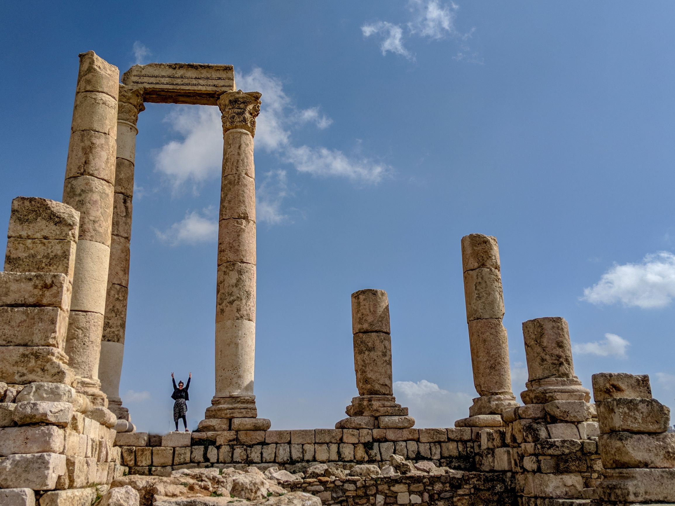 The Citadel of Amman, Jordan.
