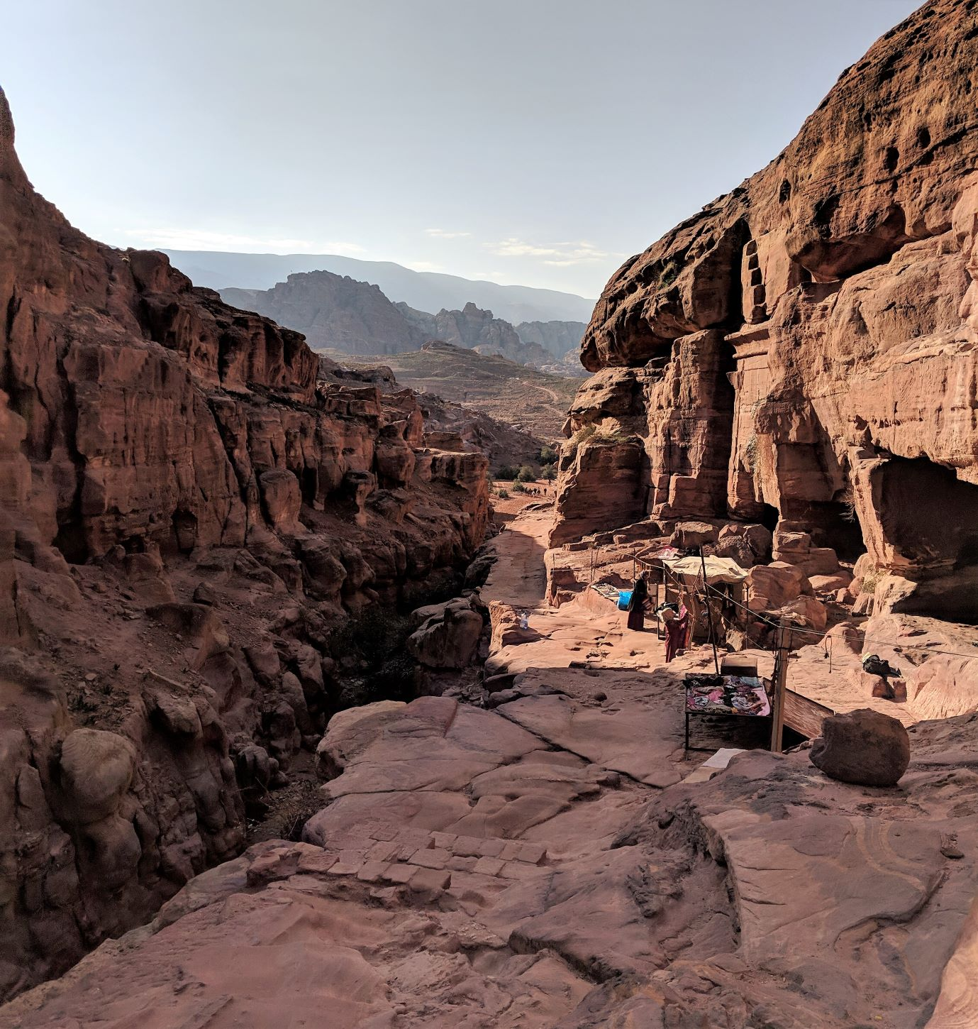 This was the terrain we encountered while hiking to the Al Deir Monastery.