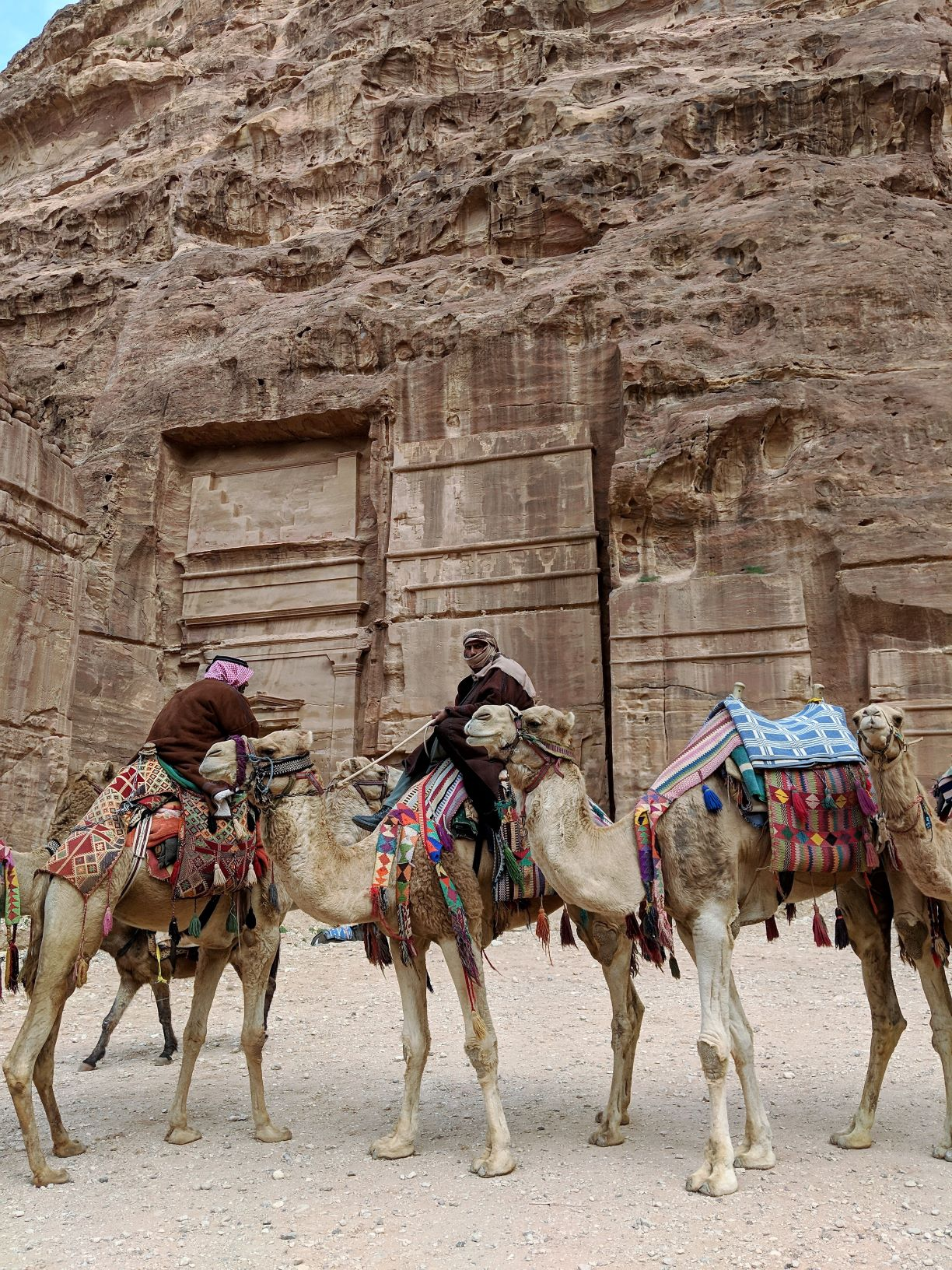 Some of the many camels and Bedouin of Petra.
