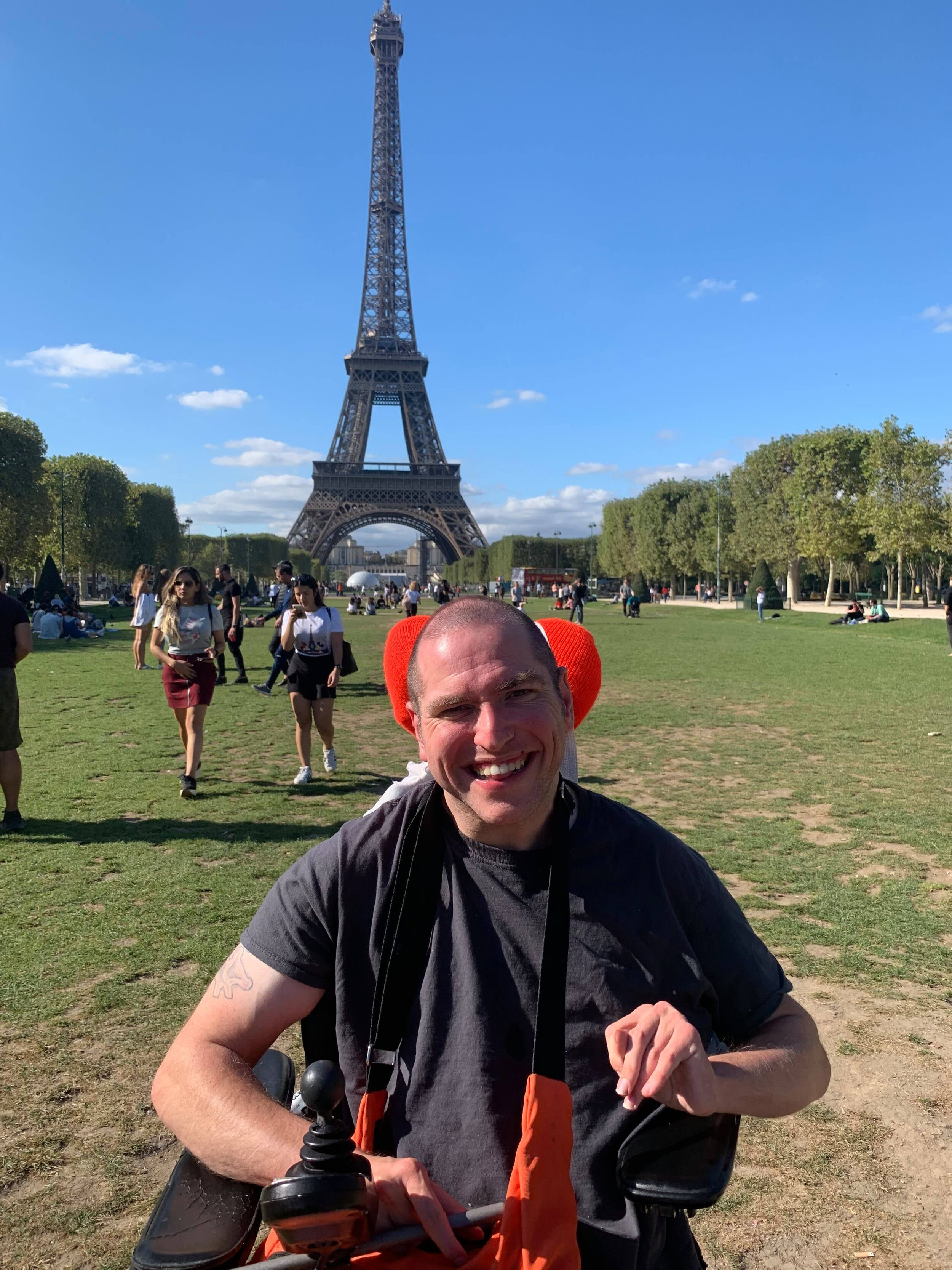 Andrew on his recent trip to Paris, France.