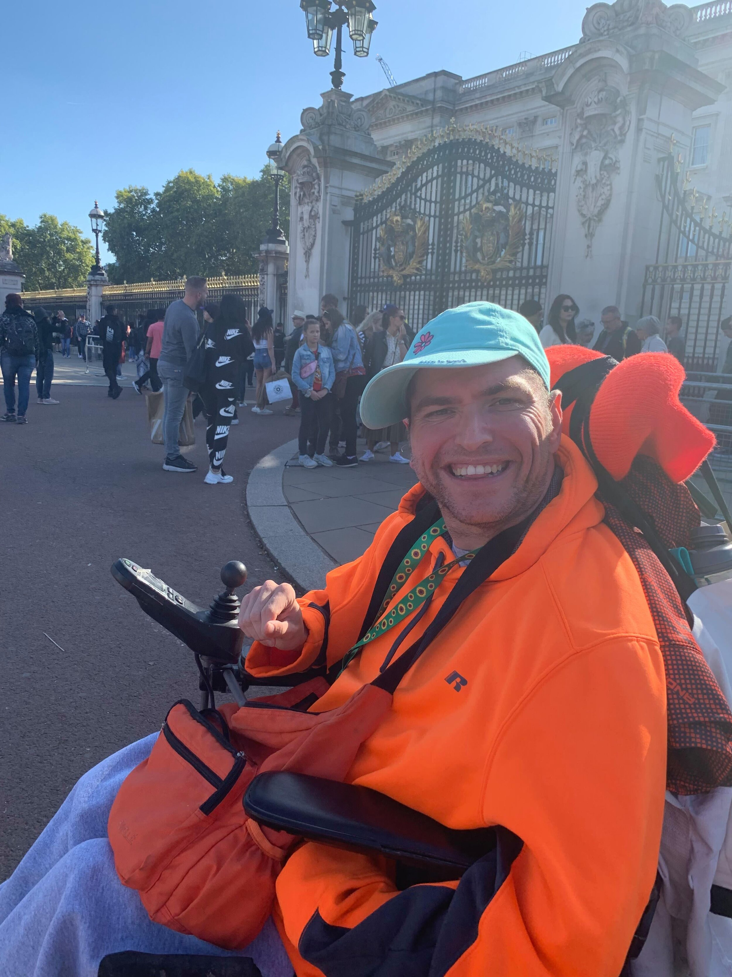 Andrew visiting Buckingham Palace in London, UK.