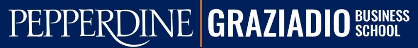 Pepperdine Graziadio MBA Admissions