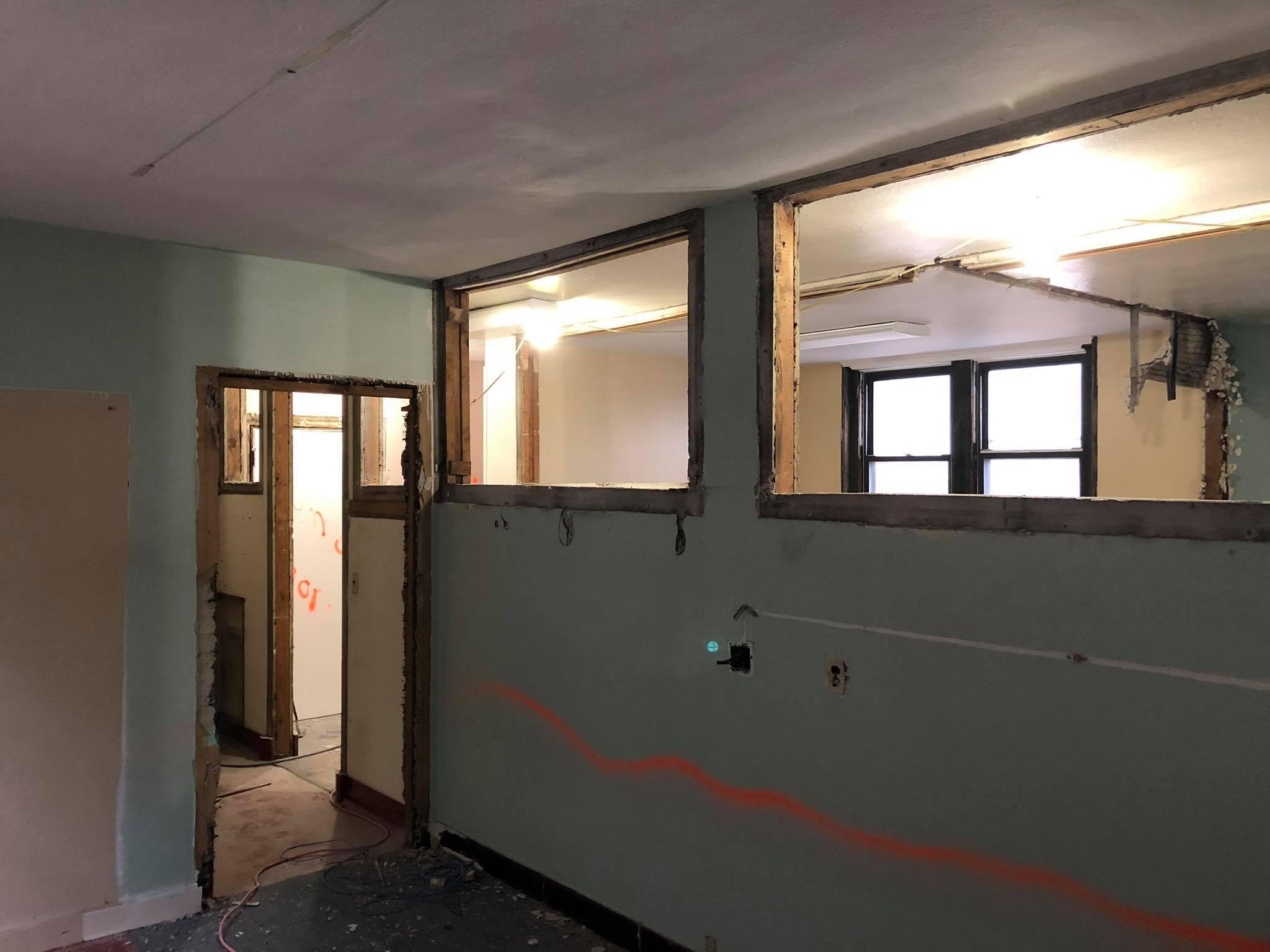The Catechesis room, minus windows and doors.