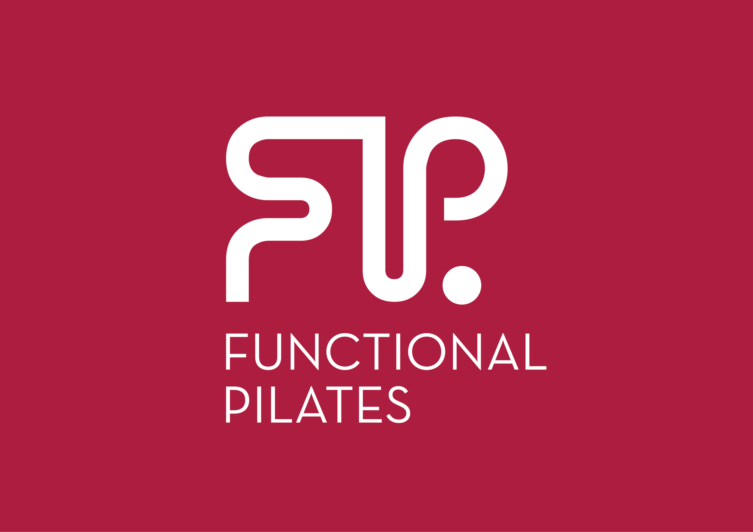 Functional Pilates Logo on Red PMS1945 (White Logo).png