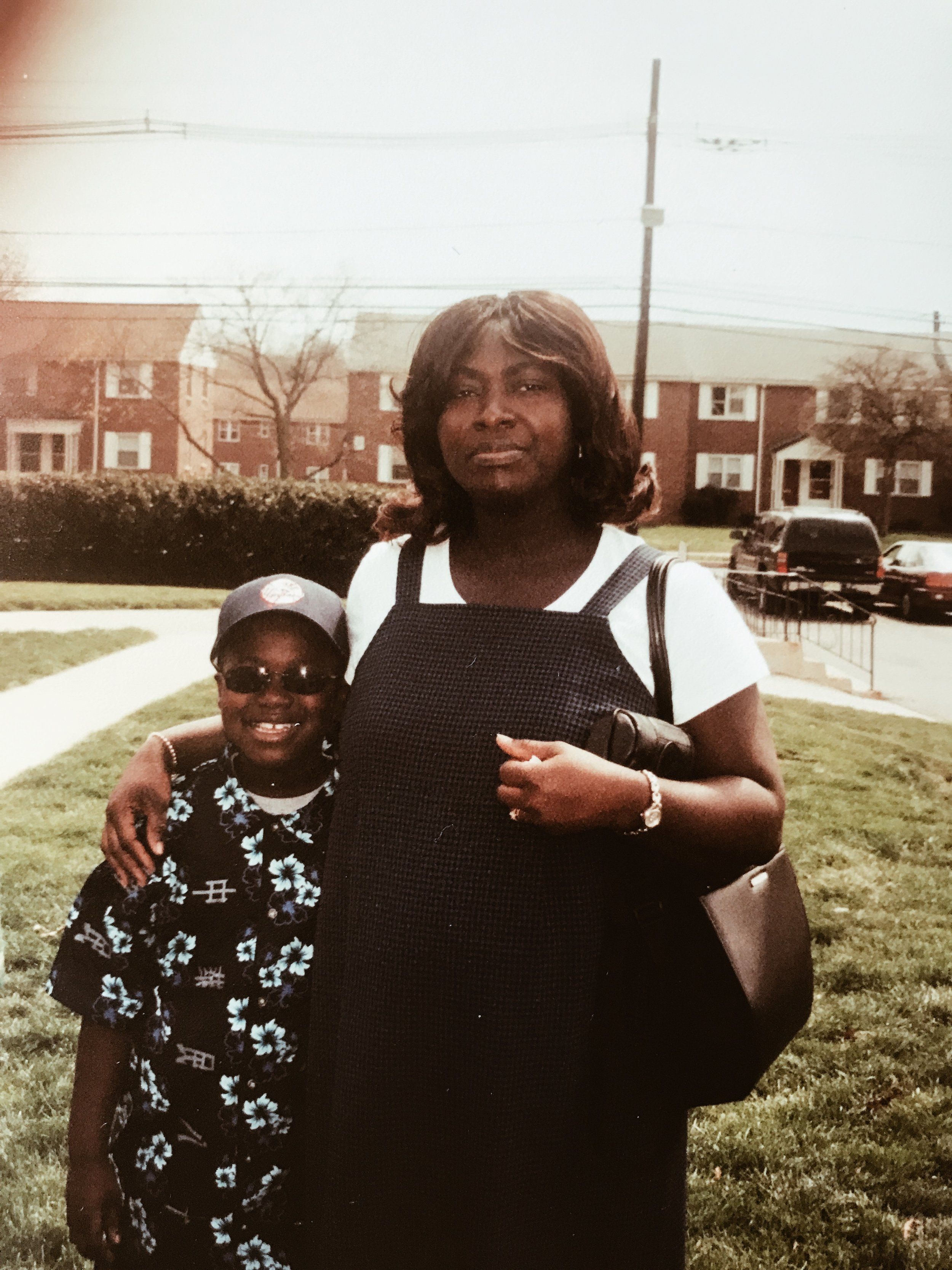 Me & Mom — Franklin Blvd. 2002.