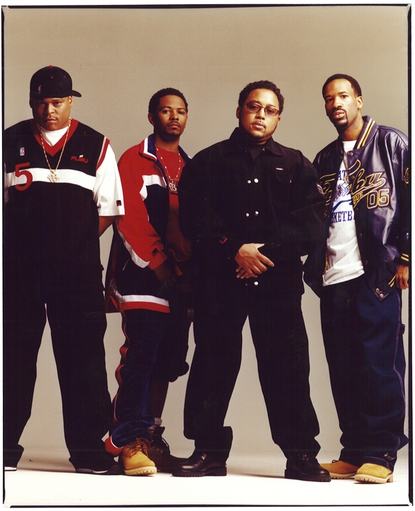Left to right: Keith Perrin, Carl Brown, Daymond John, J. Alexander Martin. For Us, By Us.