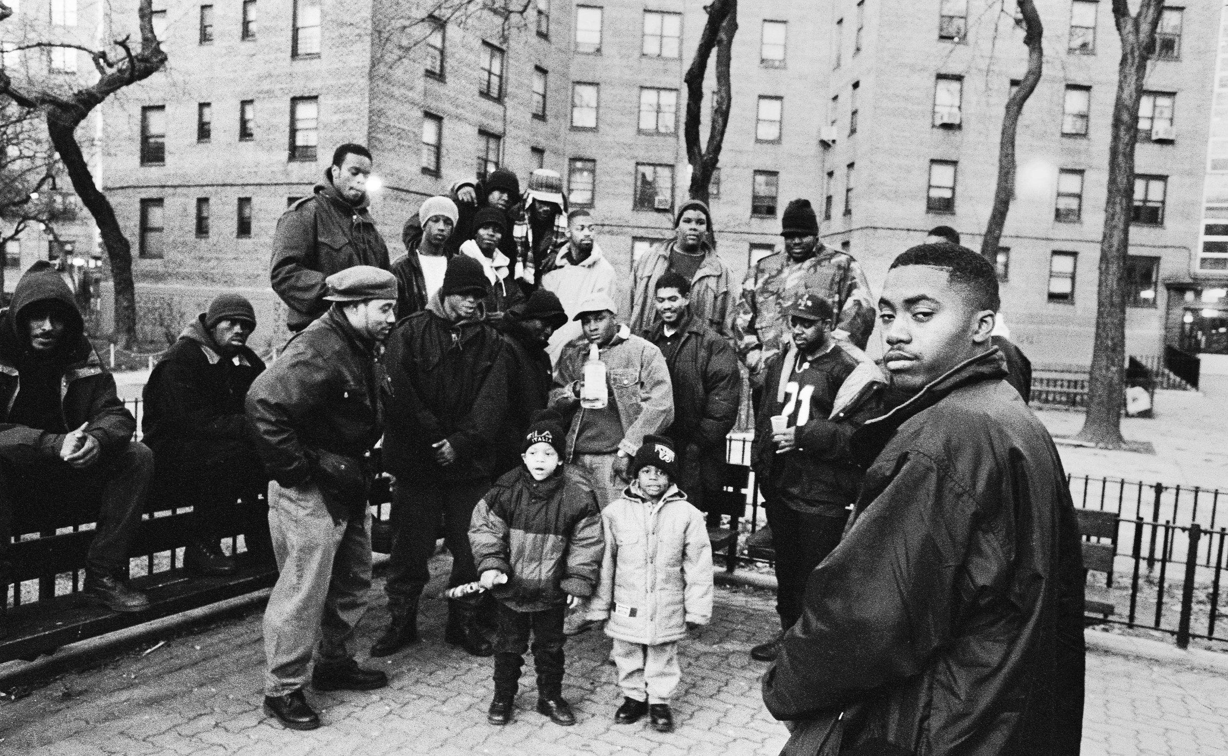 Nas — 'Illmatic' album shoot. 1994.