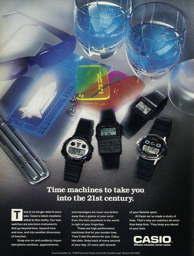 Casio Ad. 1989.