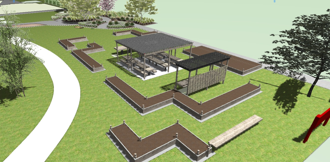 The Community Garden and Barbecue and Hāngī Area - Allandale School