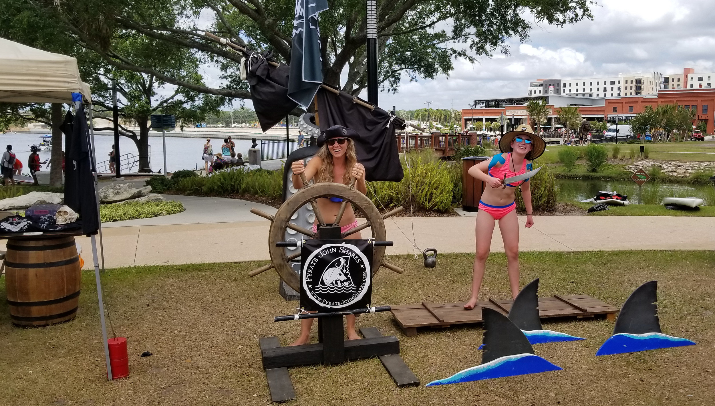 Pyrate Prop Setup at Gasparilla SUP Invasion 2018