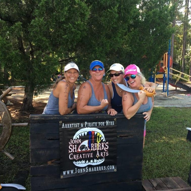 Pyrate Prop Setup at Lake Mary Jane Paddlefest