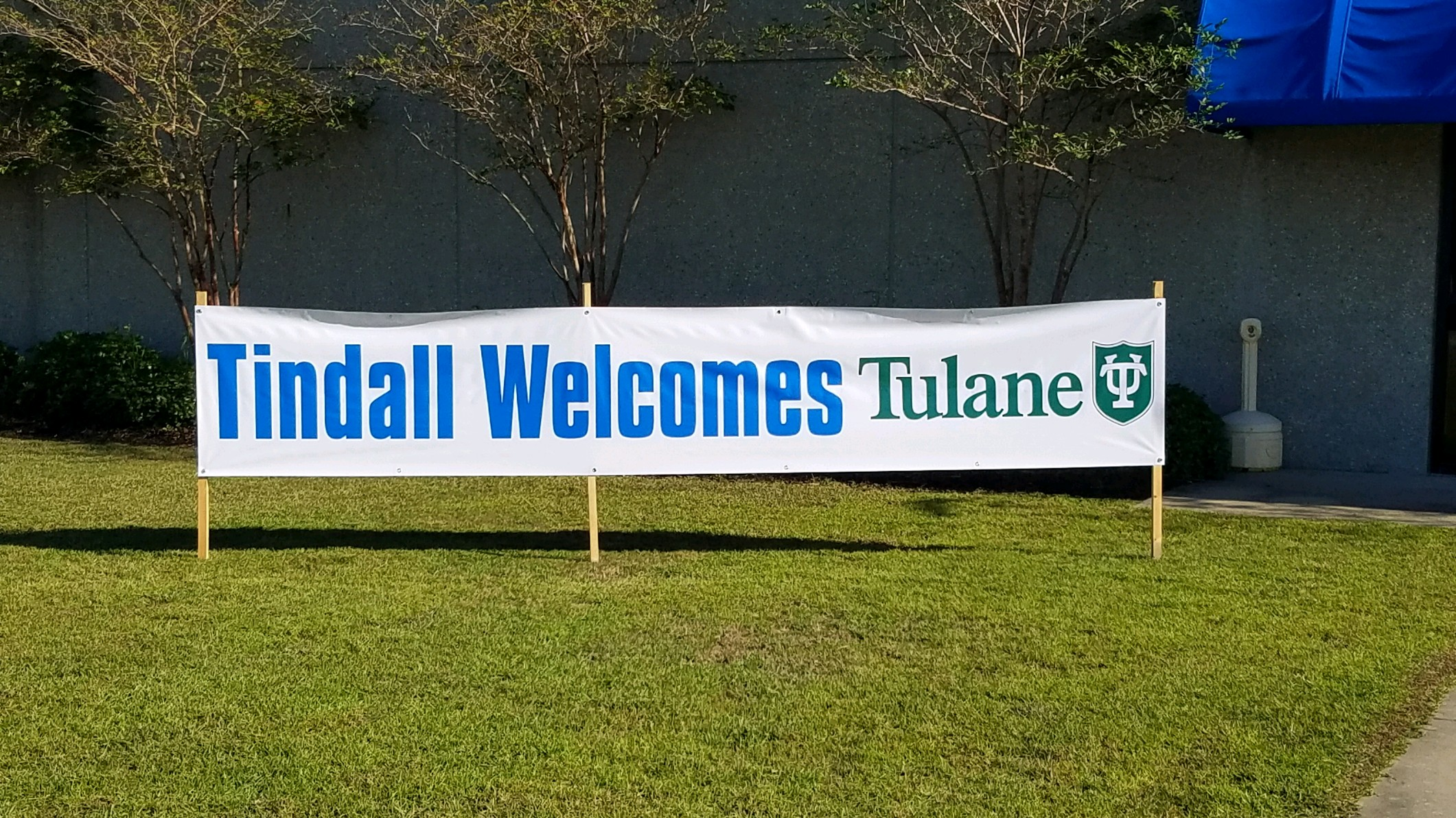 Tindall displayed this welcome sign for the undergraduate students visiting their PCI certified plant on 10/3/18.