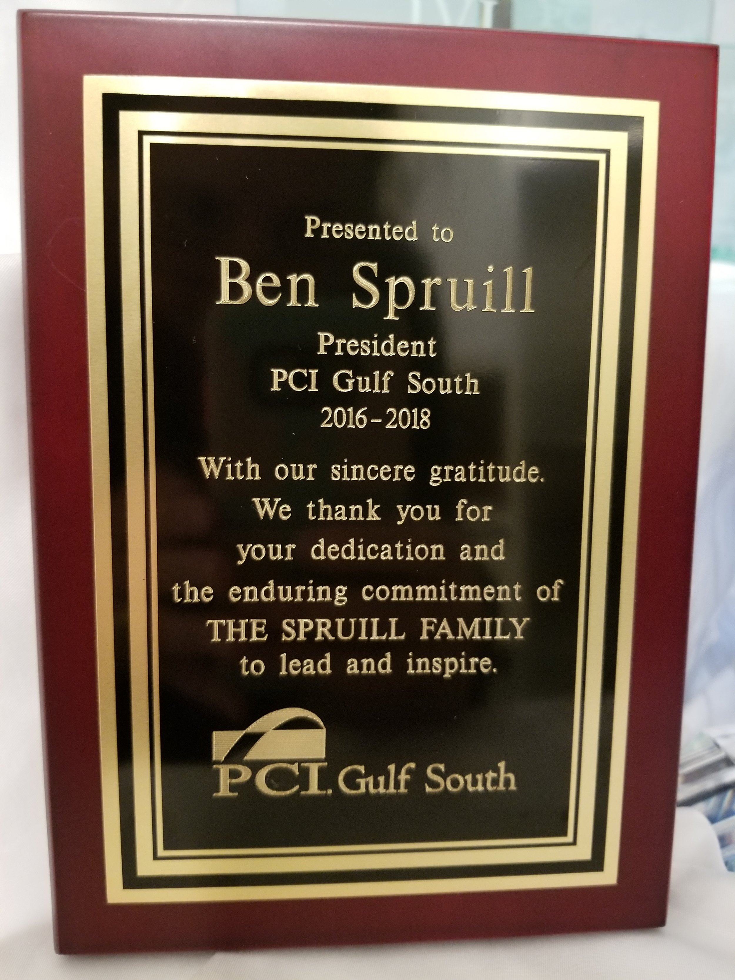 PCI Gulf South President Award.jpg
