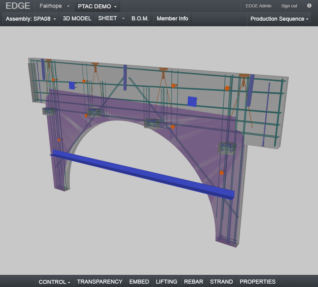 3d view of an assembly on edge^cloud