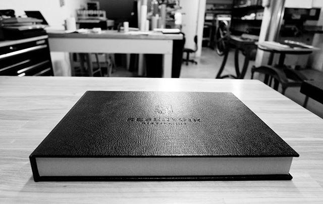 Reservoir Distillery - Hand Made Leather Box and Book . . . . #reservoirdistillery #distillery #distillerydistrict #whiskey #distilleries #books #box #bookbox #art #handmade #madeinvirginia #cometobcr #bcrbookbinding #bookstagram #marketing