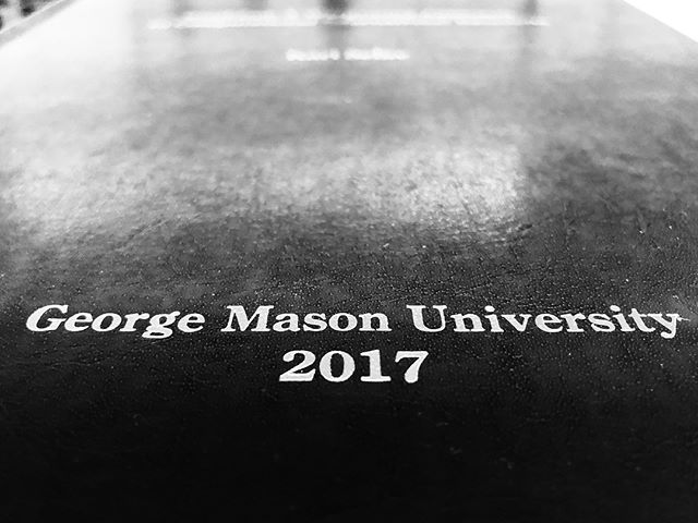 George Mason University Hard Cover Leather Dissertation . . . . . #gmu #georgemasonuniversity #georgemason #thesis #dissertation #university #college #school #class #books #leather #schoolflow #cometobcr #bcr #bookbinding