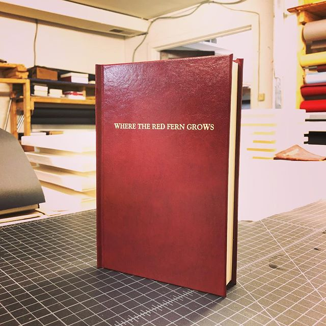 Where the Red Fern Grows #books #cometobcr #bcrbookbinding #leather #leathercraft #fern #growth #red #bookbinding #bookbinder
