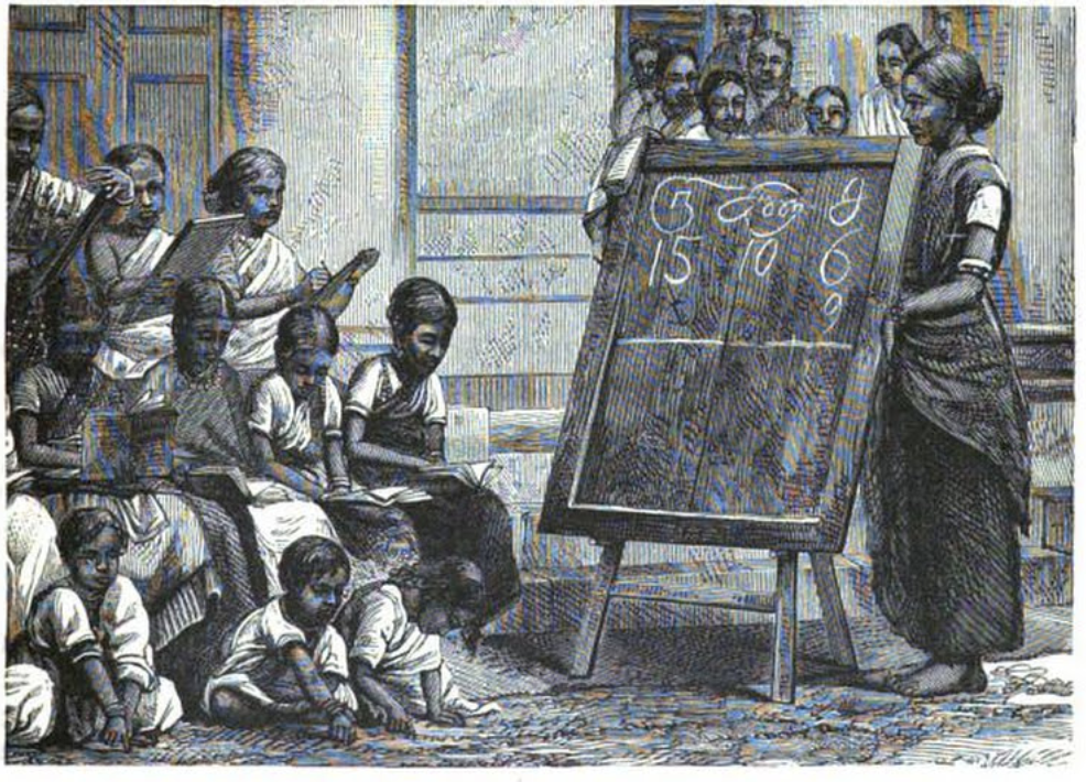 """""""Tamil Girls in a Boarding-School,"""" Mary and Margaret W. Leitch,  Seven Years in Ceylon: Stories of Mission Life , New York: American Tract Society, 1890, 117."""