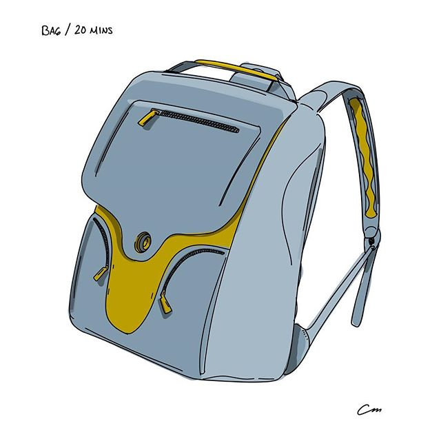 Now that I look back, this might be the first time I've ever drawn a bag. How did that happen? • • #sketchbook  #sketch #sketching #designsketch #design #designer #industrialdesign #productdesign #sketchaday #designoftheday #illustration #procreate