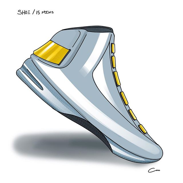 This shoe makes me think of some cross-sport combination of skating, snowboarding, and bowling. • • #sketchbook  #sketch #sketching #designsketch #design #designer #industrialdesign #productdesign #sketchaday #designoftheday #illustration #procreate