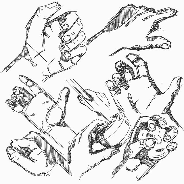 Practice hands! Like normal hands, just... less normal. • • #sketchbook  #sketch #sketching #designsketch #design #designer #industrialdesign #productdesign #sketchaday #designoftheday #illustration #procreate