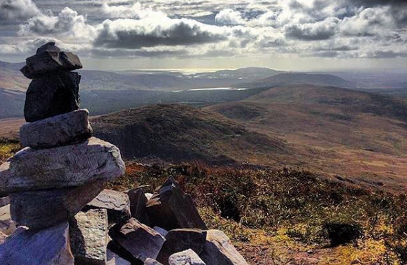 View from Diamond Hill, Galway in the West of Ireland