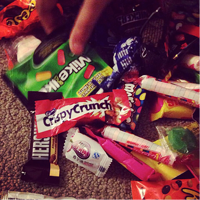 balance includes candy