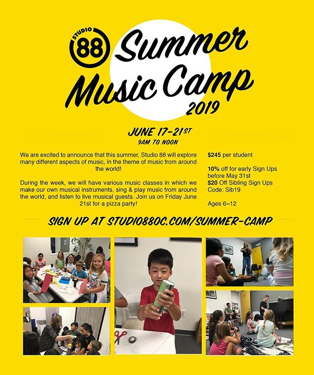 Summer Camp Signups are up- 10% off if you sign up before May 31st. Go to Studio88oc.com for more details!