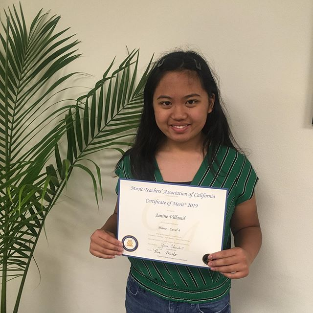 Congrats to our students for their achievements this year! Photo 1: Janine showing off her Certificate of Merit Photo 2: Lea's high marks led to to receive the Branch Honors Award