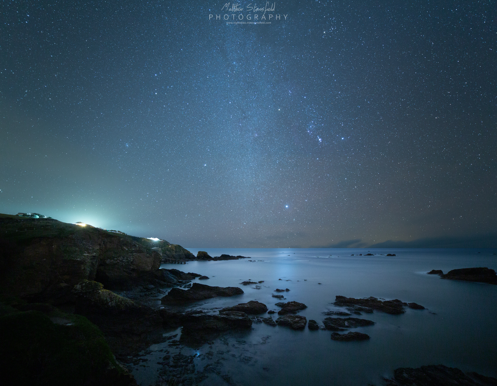 Lizard Point - ISO 800, F2.8, 240 seconds for the sky. ISO 1600, F2.8, 320 second exposure.