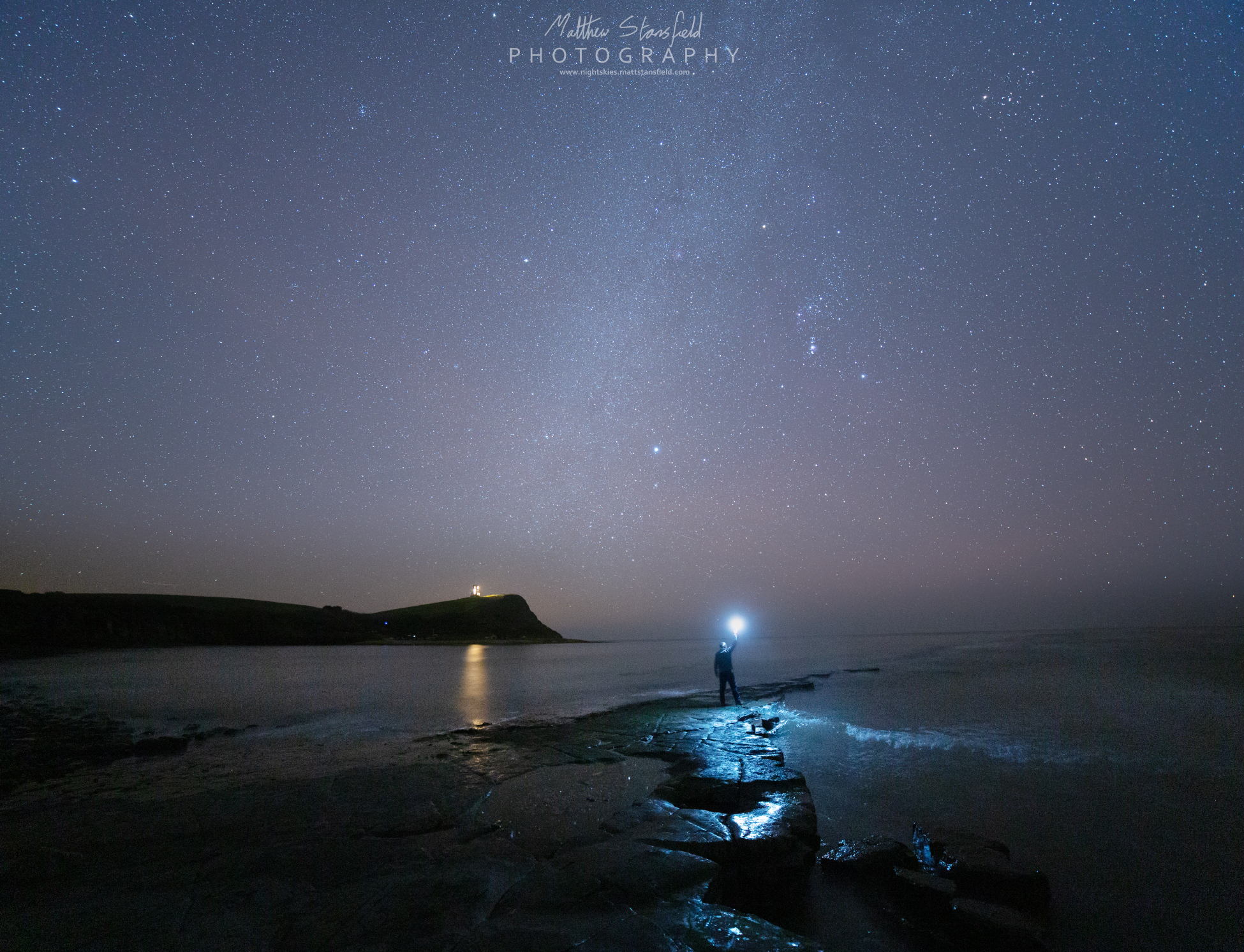 The much photographed ledge at Kimmeridge Bay- ISO 800, F2.8, 240 seconds for the sky. ISO 1600, F2.8, 320 second exposure.