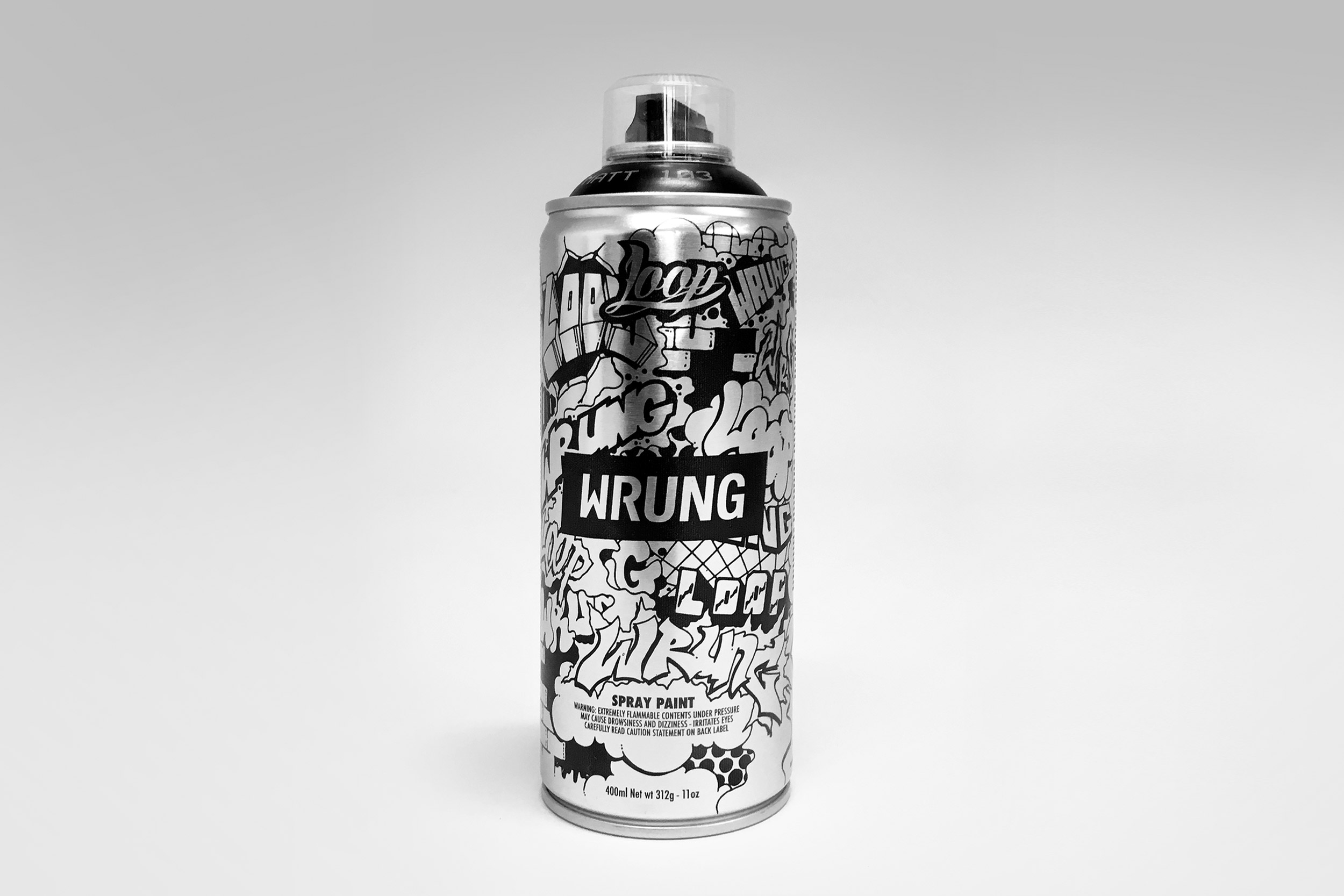 LOOP X WRUNG SPRAYCAN (ILLUSTRATION)