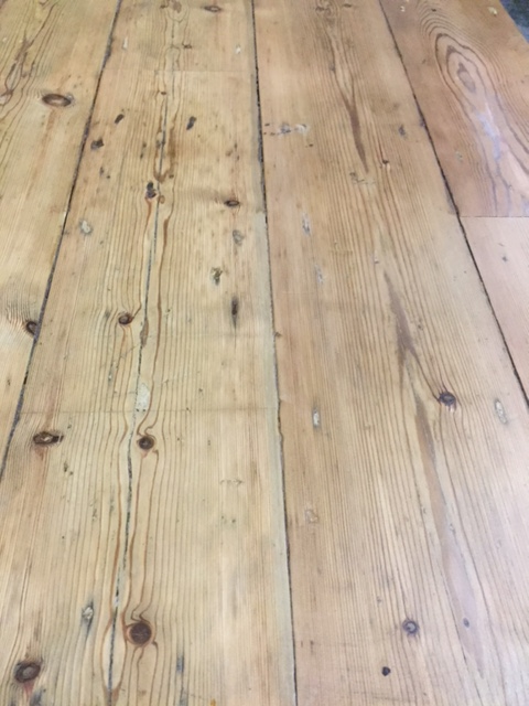 reclaimed period pine floorboards -