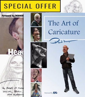 """Special Offer!! - Buy """"Heads & Shoulders: Anatomy of Caricature"""" and get """"The Art of Caricature"""" Half Price!"""
