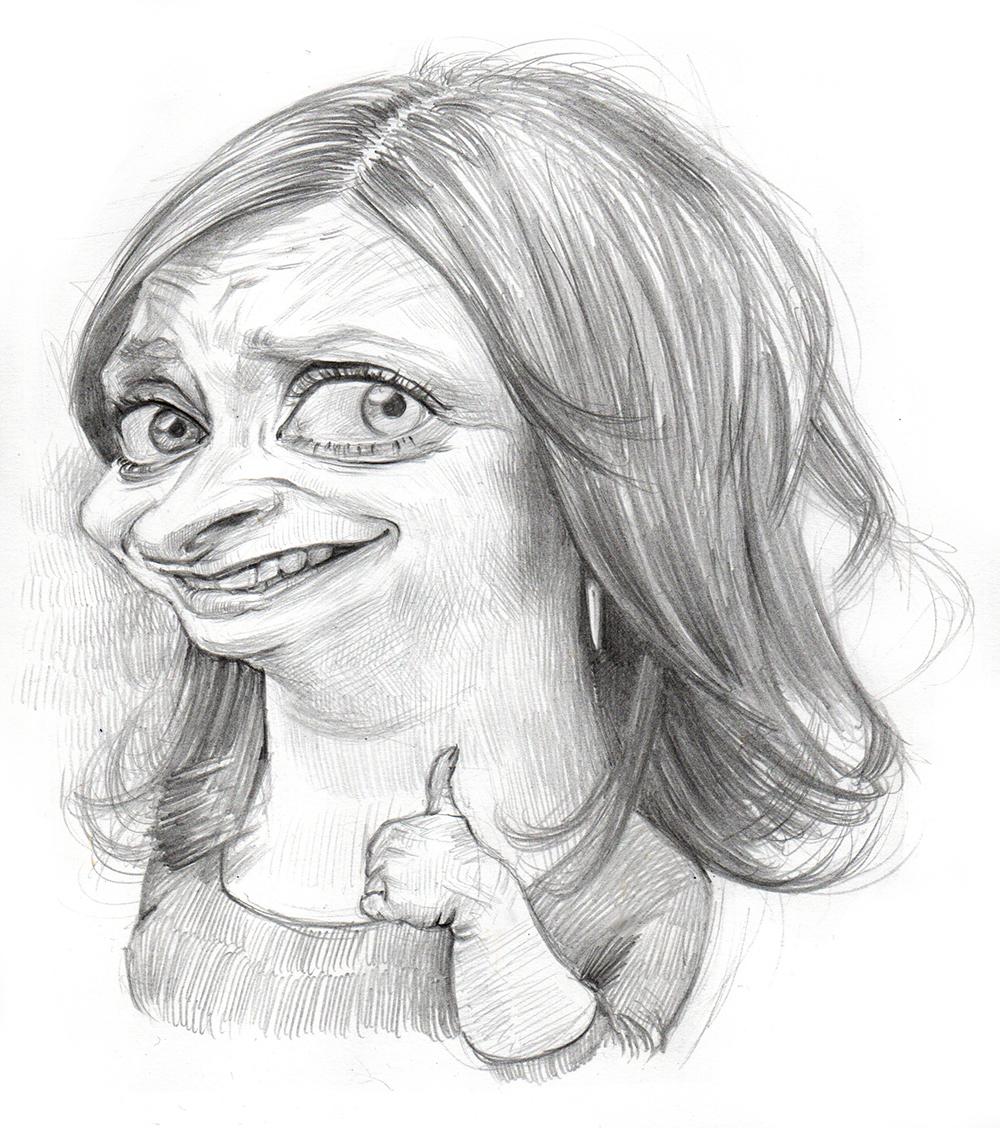 Rachel Dratch - Pencil on PaperImage size 180x200mm£75
