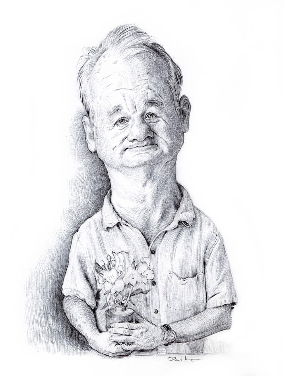 Bill Murray - Black Biro on PaperImage size 140x220mm£75