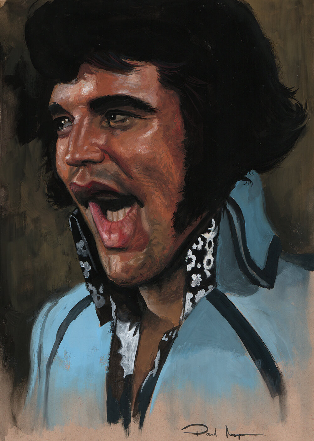 Elvis - Gouache on PaperImage size 170x250mm£250