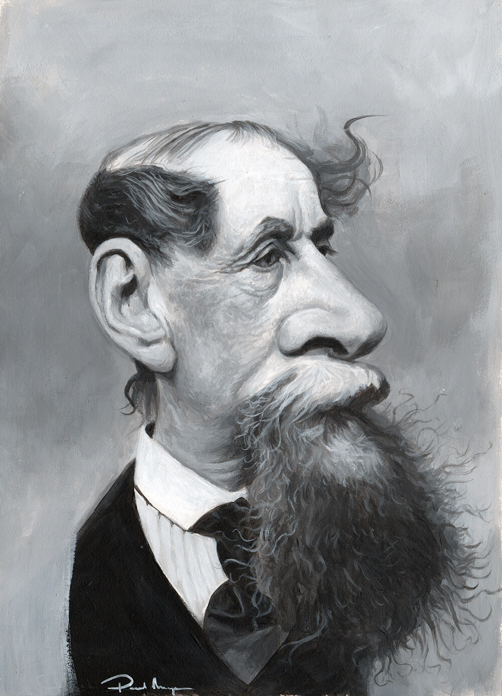 Charles Dickens - Acrylic on BoardImage size 230x320mmFrame size 370x460mm£495