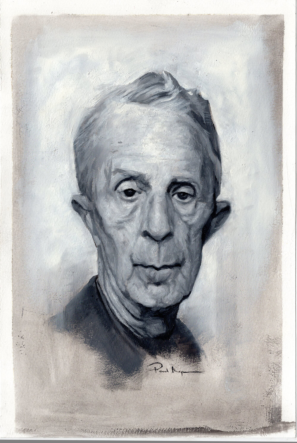 Portrait of Norman Rockwell - Oil on Watercolour PaperImage size 200x310mm£395