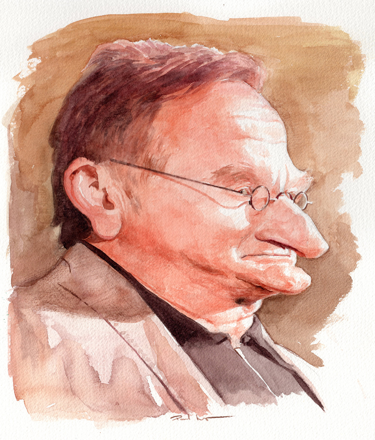 Robin Williams - Watercolour on PaperImage size 220x260mm£250