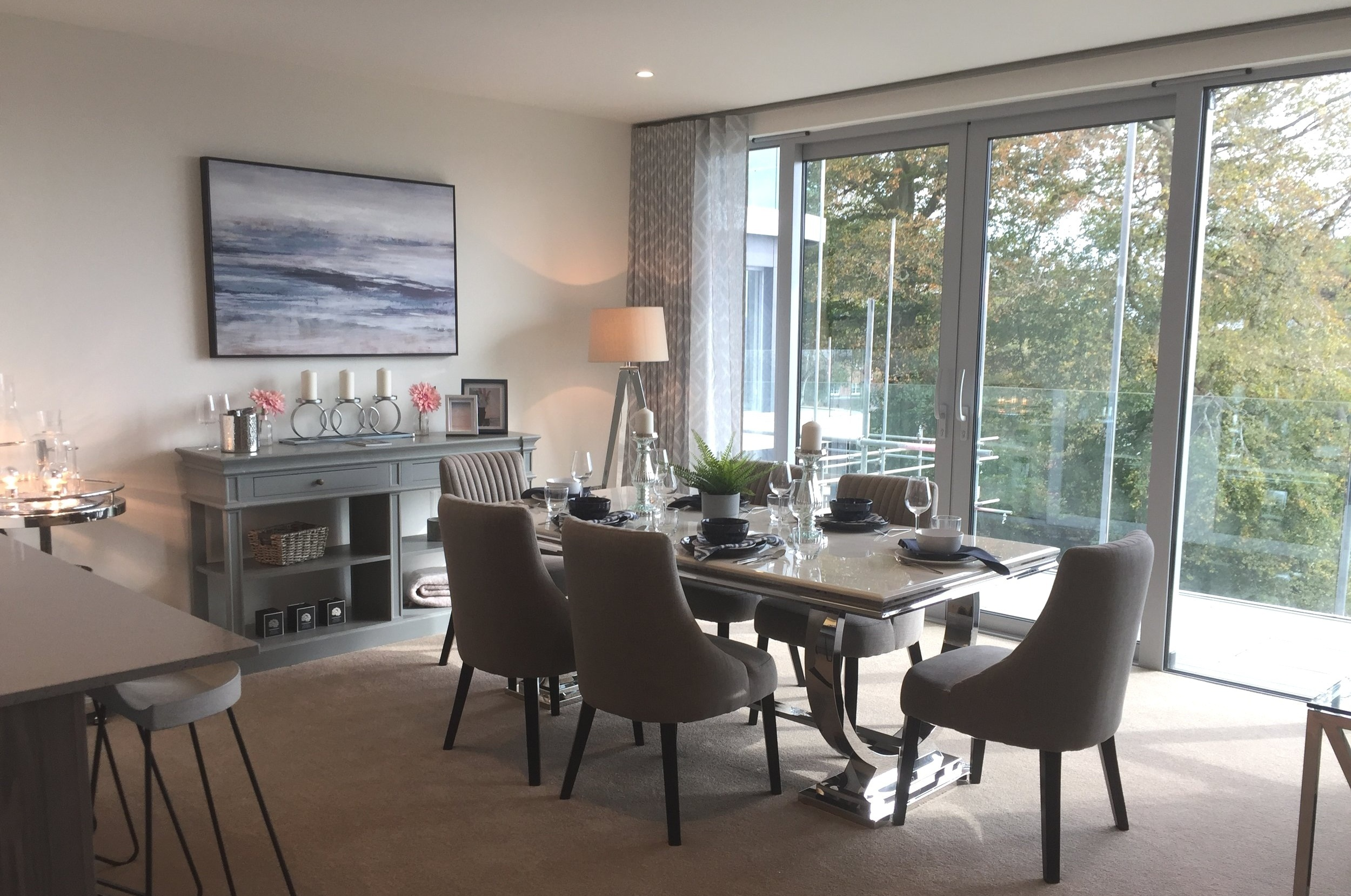 Platinum Skies Show Home   Dorset, 2018.  Two bedroom show apartment