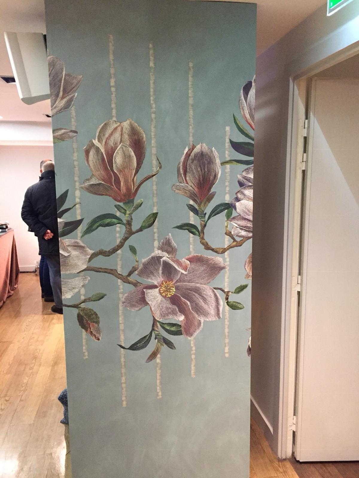 'Magnolia Frieze' from  Folium,  taken at  Maison & Objet 2019  by Calico Interiors